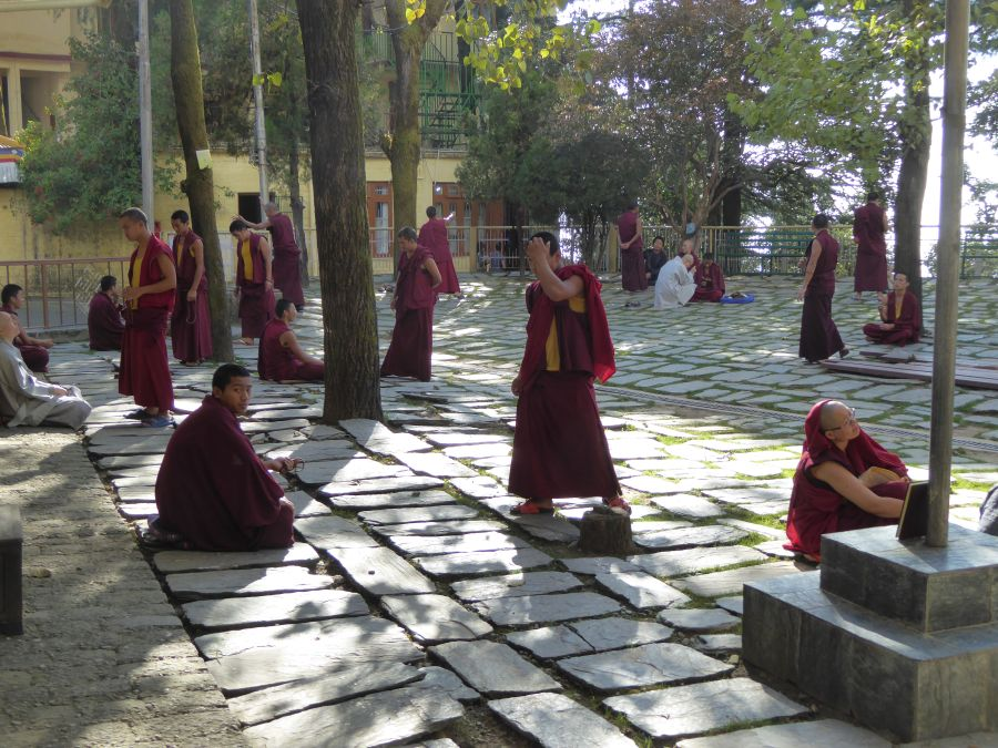 23. to the daily debates between monks
