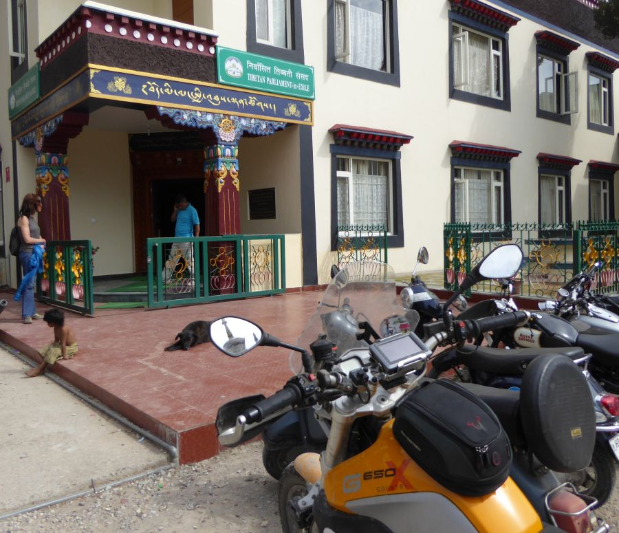 26. Dharamshala is also the seat of the Tibetan aprliament in exile. Where else in the world can you ride right up to the parliament  as a foreginer