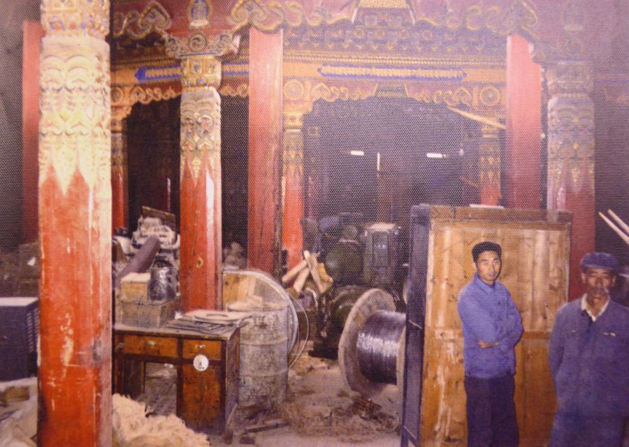 29 .The Rebong Monastery, Amdo province turned into a Chinese storeroom in 1979
