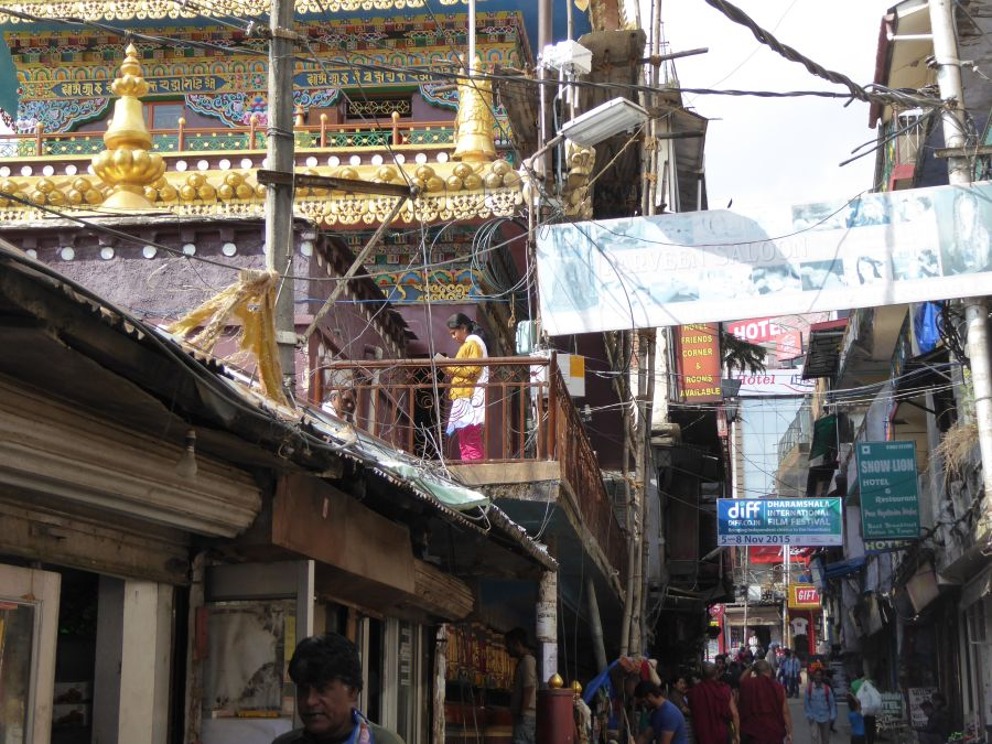 8. The narrow streets of  Dharamshala