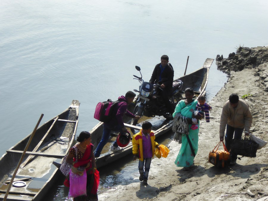 After a while these folk arrive from Majuli Island.