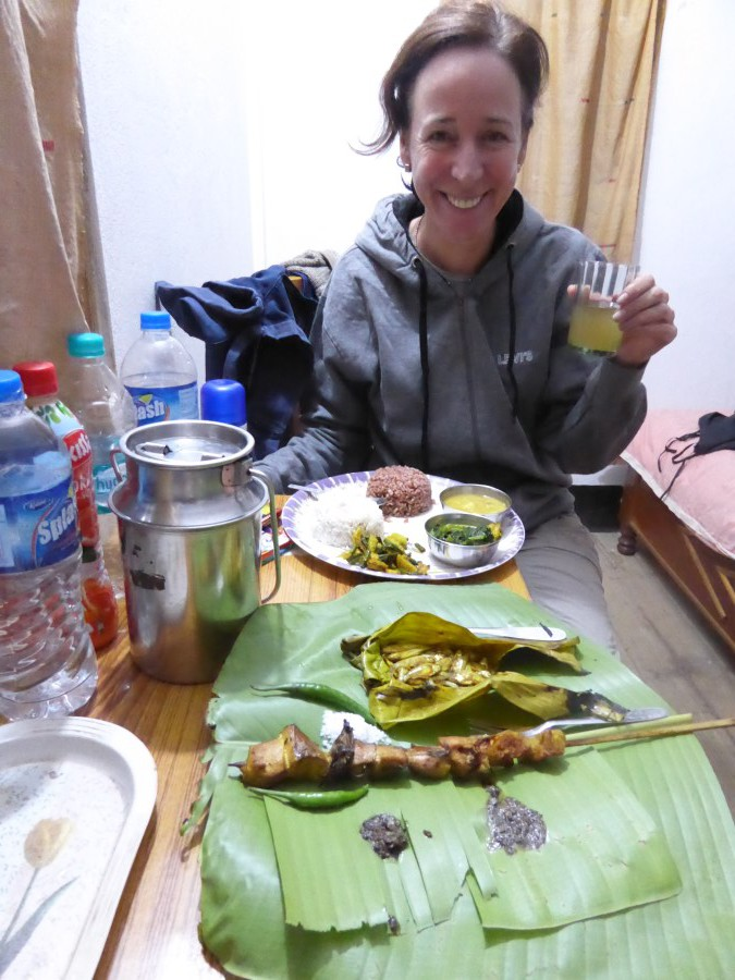 ... and eat local food and drink rice beer (loads in the stainless steel milk can).