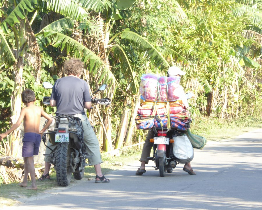 On Majuli Island, we see travelling salesmen.