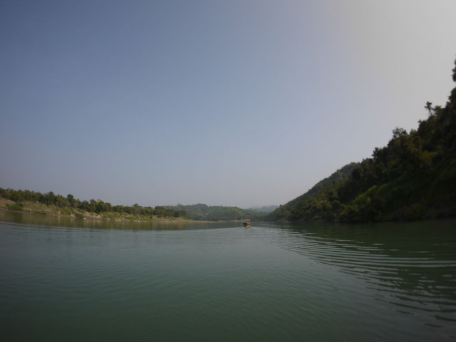 The Lemro river seems to go on forever through the Burmese jungle