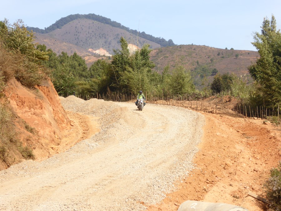 We find Laos and Cambodia seriously busy with road construction throughout.
