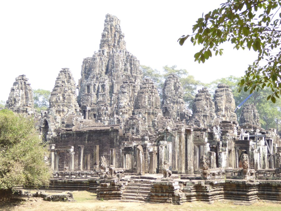 In west Cambodia, the world famous Angkor. Here a beautiful higgledy piggledy temple complex. See the many faces ...