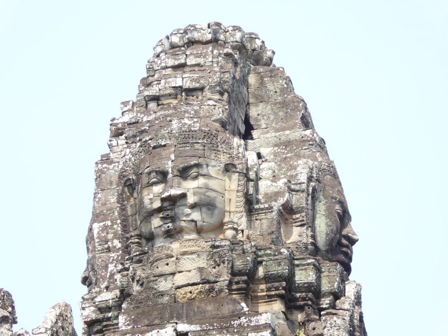 ... all the towers peak with the four faces of Hinduism.