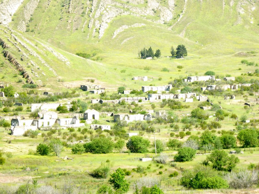 5. on the other side of the river deserted villages as a result of the unresolved Armenia & Azebijan war from 1989 - 1994
