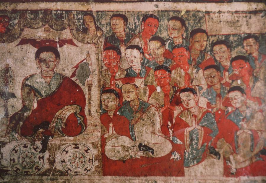 Ancient murials reminscent of Lalibela in Ethiopia