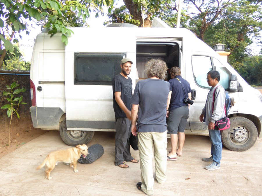 And Rein and Fido travelling together for a year in this campervan. Fido comes from a rescue centre in Serbia.