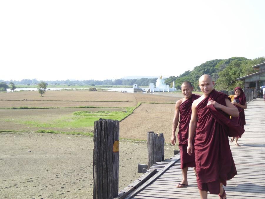 And crossed all the time, by monks ...