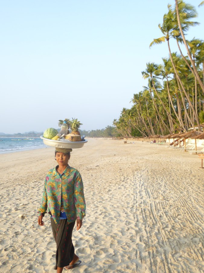 And we spend a few lazy days at Ngapali Beach. This is the Bay of Bengal.