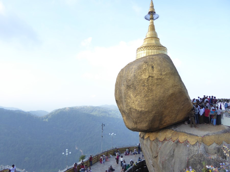 The Pagoda is built on a hair relic of the Buddha. Yes - miraculous.