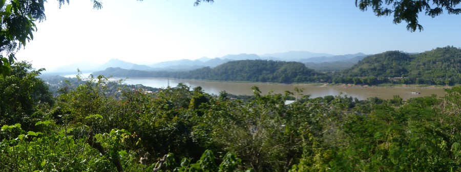 In the north, the Mekong is narrow and deep ...