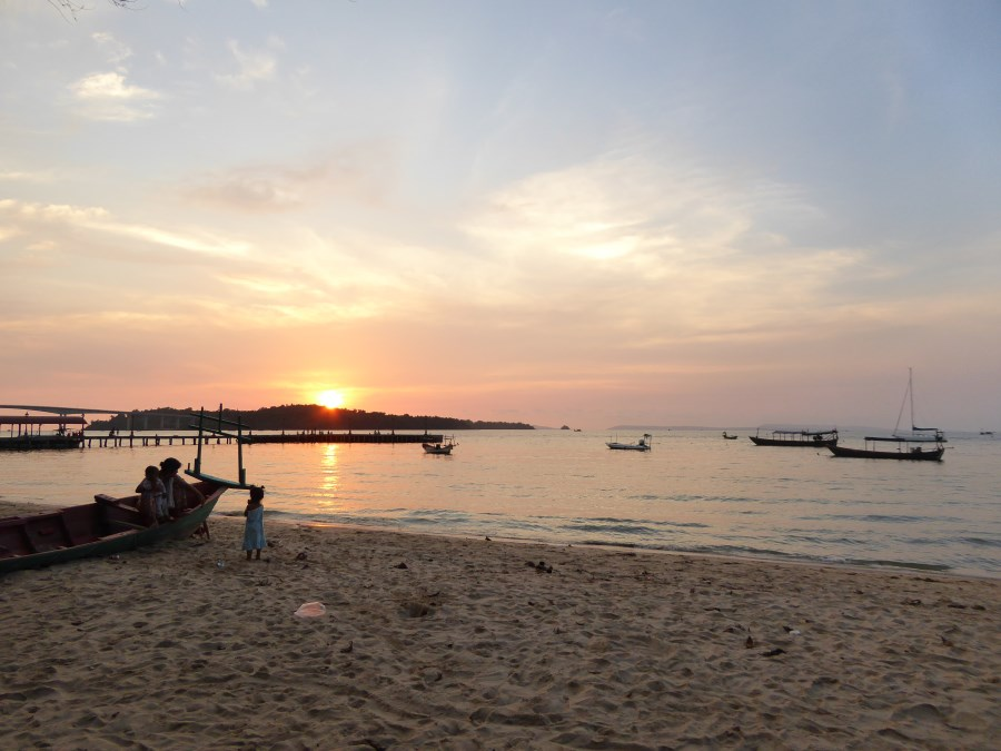 And a little further along the coast a majestic sunset at Sihanoukville.