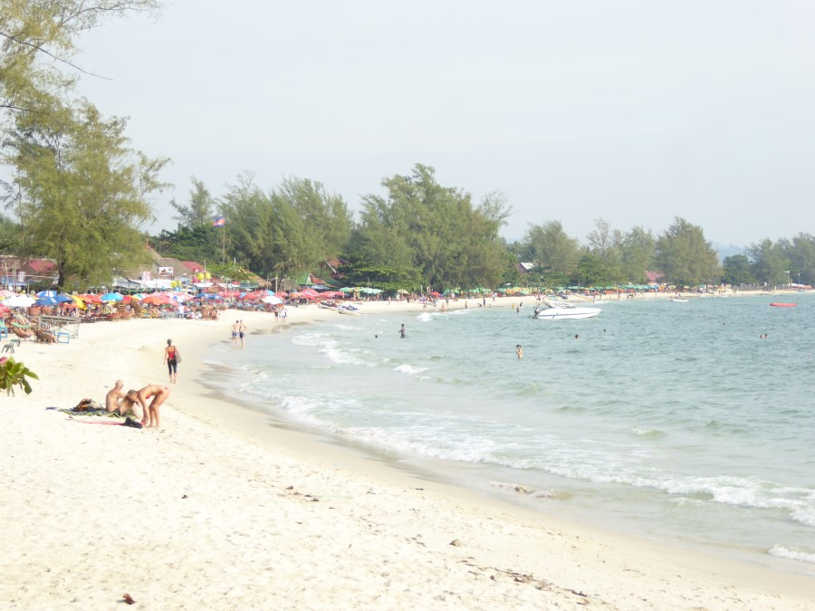 Sihanoukville has a few amazing beaches (and nearby islands) ...