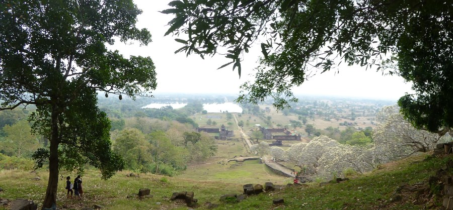 In south Laos, near Champasak, is the World Heritage Site of Wat Phou. Temples, palaces, reserviors from a ruling dynasty - 6th to 12th centuries.