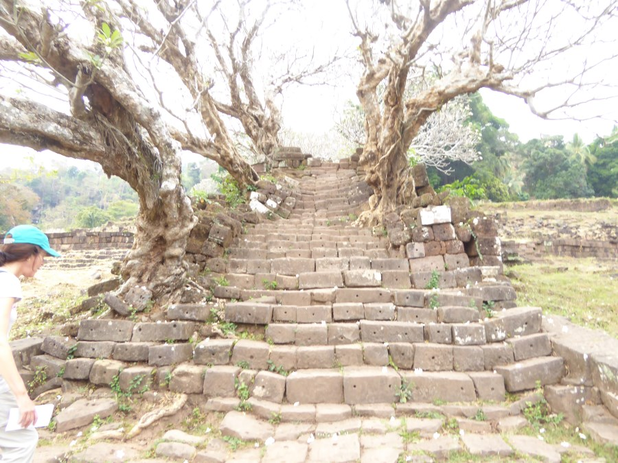 And this beautiful ancient stairway leads ...