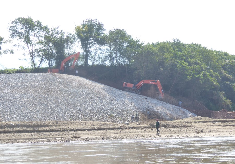 But the sight that haunts us most ... is the early construction work we see for the new Pakbeng Hydro Power Dam.