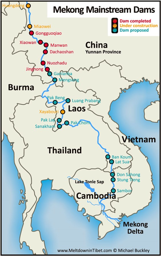 Yes, this is the future. This map shows 20 dams (either completed, under construction or proposed). Laos has 9 of them.