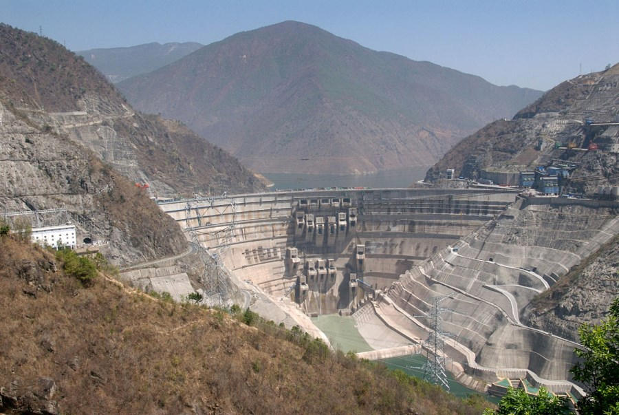 This is a photo of one of the Chinese Dams built in the upper reaches of the Mekong.