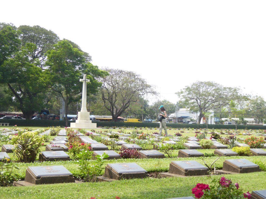In Thailand, 150km NW of Bangkok, Kanchanaburi, we visit the museum and cemeteries for POW that died building the Death Railway.