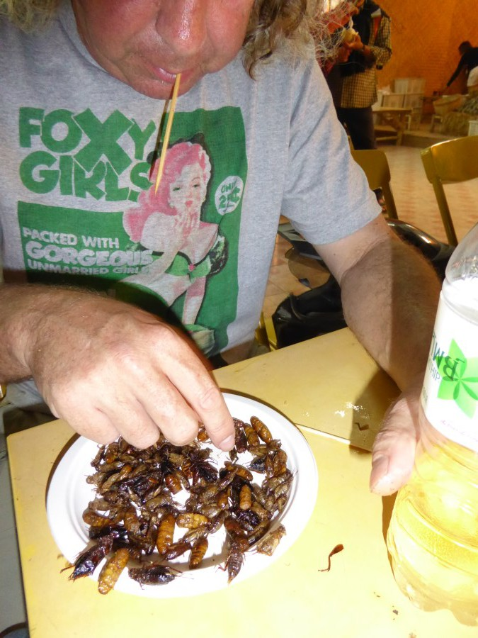 We DID eat these crawlies ...