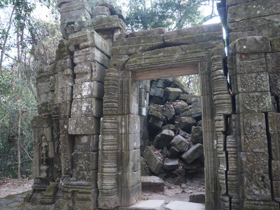A French missionary discovers the ruins in 1872 ... parts of Angkor have been left as he found them way back then.