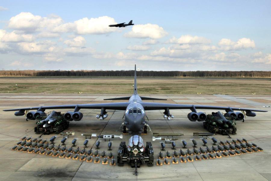 A B52 bombers payload. The B52 remains one of the biggest bombers still in service today