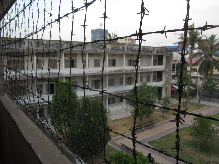 """The barbed wire on the 1st  floor of the old school convereted to the S21  prision  was to prevent """"inmates"""" from jumping to their death"""